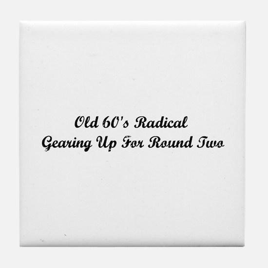 Old 60's Radical Tile Coaster