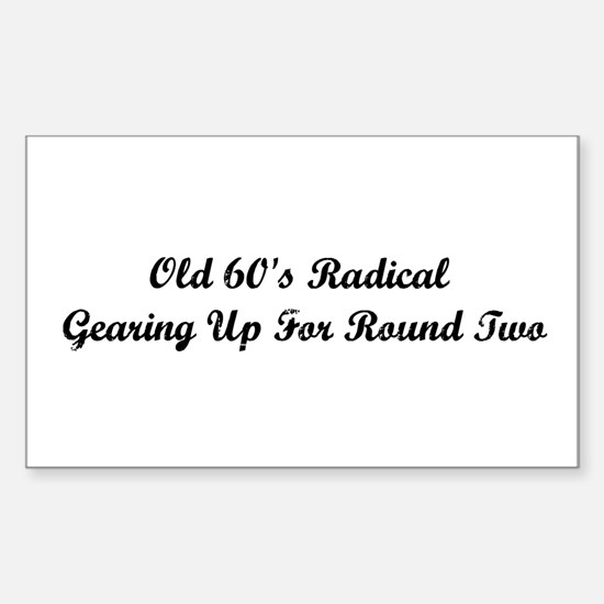 Old 60's Radical Decal