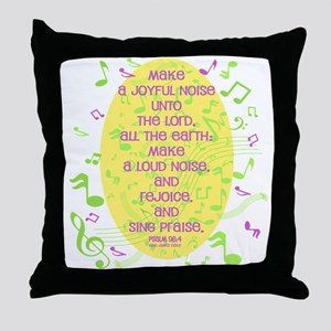 Psalm 98 4 Throw Pillow