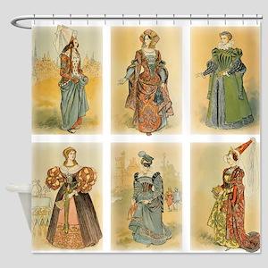 Vintage Paris Fashion (Middle ages) Shower Curtain