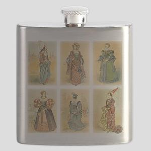 Vintage Paris Fashion (Middle ages) Flask