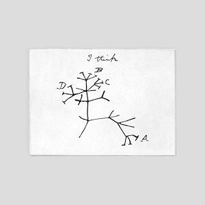 Darwin Tree of Life Black 5'x7'Area Rug