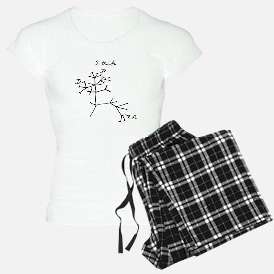 Darwin Tree of Life Black pajamas