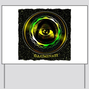 illuminati Yard Sign