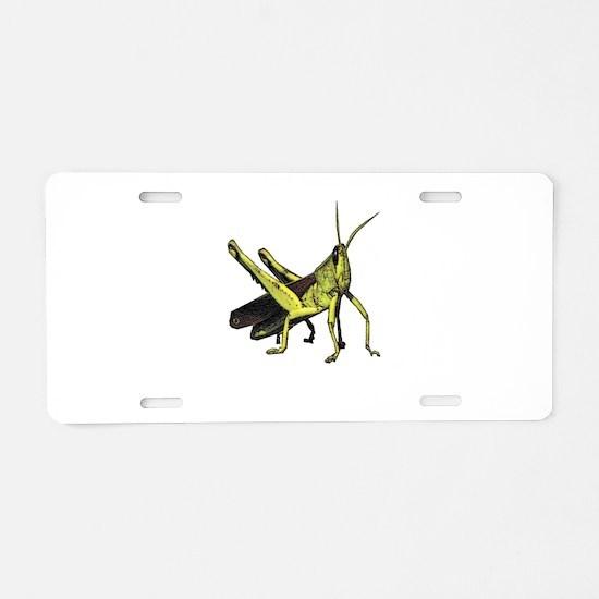 grasshopper Aluminum License Plate