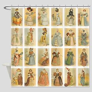 Vintage Paris Fashion Shower Curtain