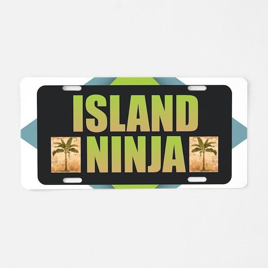 Island Ninja Aluminum License Plate