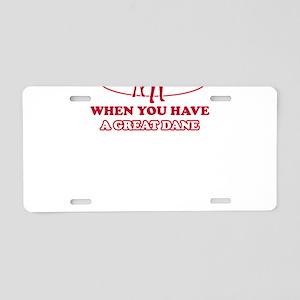 Funny Great Dane lover designs Aluminum License Pl