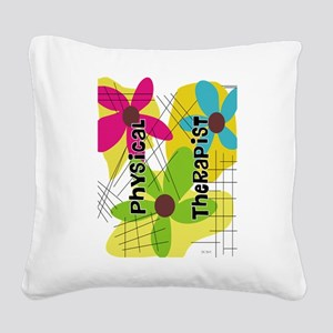 physical therapist 1 Square Canvas Pillow