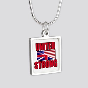 United Strong 3 Silver Square Necklace