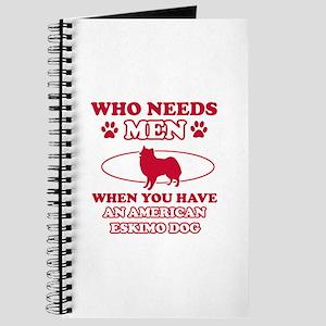 Funny American Eskimo Dog lover designs Journal