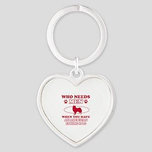 Funny American Eskimo Dog lover designs Heart Keyc