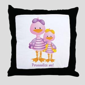 Big Sis Little Sis Ducks - Personlalize Throw Pill