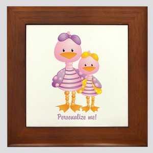 Big Sis Little Sis Ducks - Personlalize Framed Til