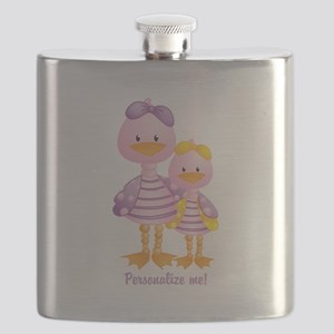 Big Sis Little Sis Ducks - Personlalize Flask