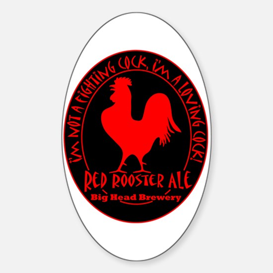 Loving Rooster Oval Decal