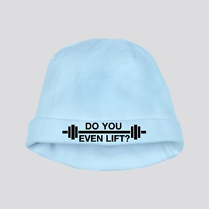 Bro, Do You Even Lift? baby hat