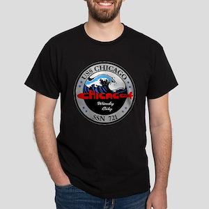 SSN 721 USS Chicago Dark T-Shirt