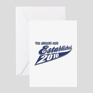 Established in 2010 Greeting Card