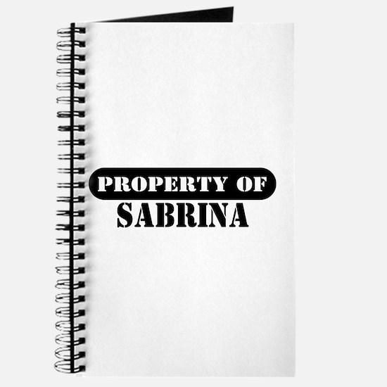 Property of Sabrina Journal