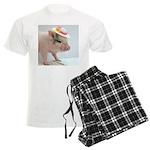 Micro pig with Summer Hat pajamas