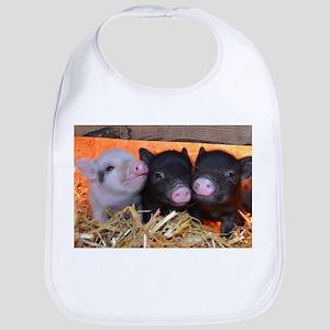 3 Little Pigs Bib