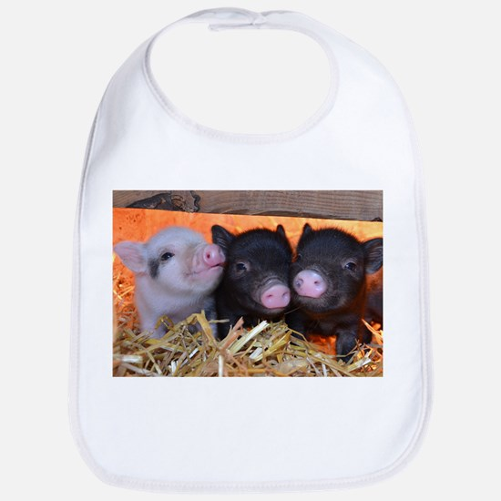 3 Little Pigs Bib