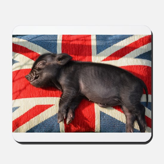 Micro pig chilling Mousepad
