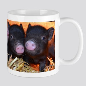 3 little micro pigs Small Mug