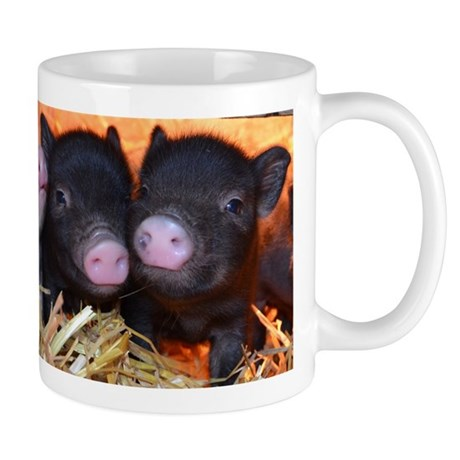 3 little micro pigs small mug by petpiggiesmicropigshop for Mug isotherme micro ondable