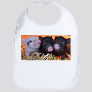 3 little micro pigs Bib
