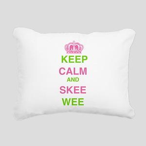 Keep Calm and Skee Wee Rectangular Canvas Pillow