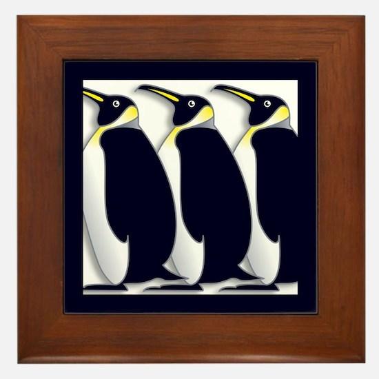 Penguins Framed Tile