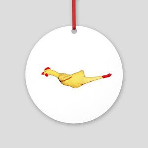 Rubber Chicken Ornament (Round)