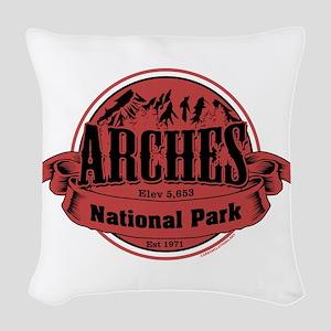 arches 2 Woven Throw Pillow