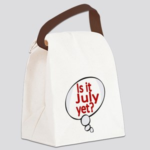 Is it July yet ? Canvas Lunch Bag