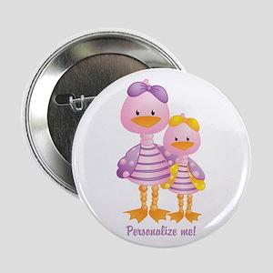 "Big Sis Little Sis Ducks - Personlalize 2.25"" Butt"