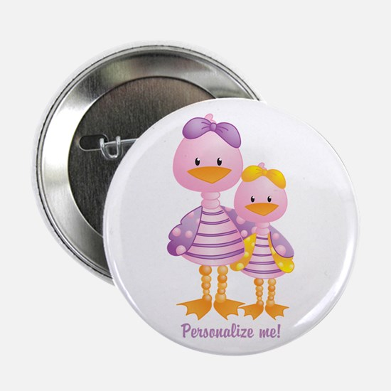 "Big Sis Little Sis Ducks - Personlalize 2.25"" Butt"