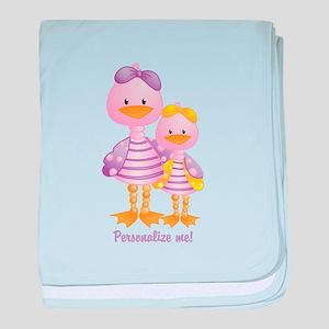 Big Sis Little Sis Ducks - Personlalize baby blank