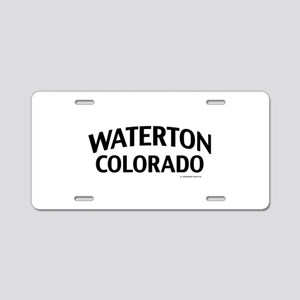 Waterton Colorado Aluminum License Plate