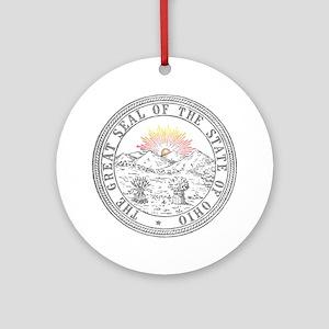 Vintage Ohio State Seal Ornament (Round)