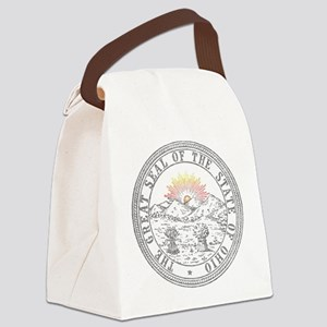 Vintage Ohio State Seal Canvas Lunch Bag