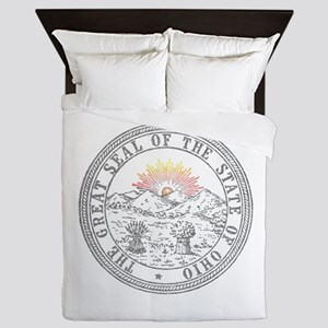 Vintage Ohio State Seal Queen Duvet