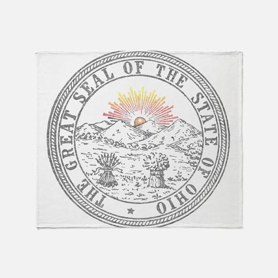Vintage Ohio State Seal Throw Blanket