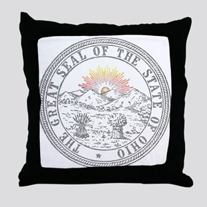 Vintage Ohio State Seal Throw Pillow