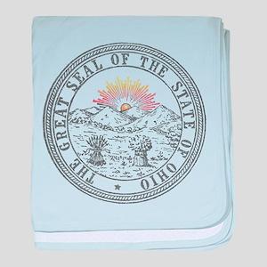 Vintage Ohio State Seal baby blanket