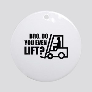 Bro, Do You Even Lift? Ornament (Round)