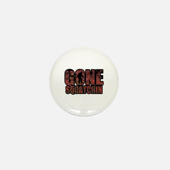 Gone Squatchin red maples Mini Button