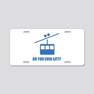 Do You Even Lift? Aluminum License Plate