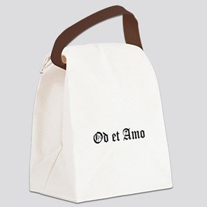 Hate Love Canvas Lunch Bag